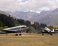 Planes on airstrip